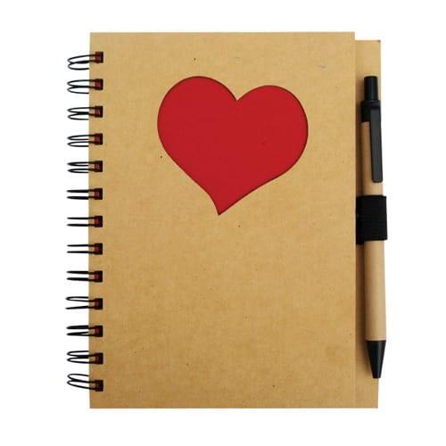 Libreta Funny Corazón código ESC-303-15COR de Artículos Promocionales One Marketing