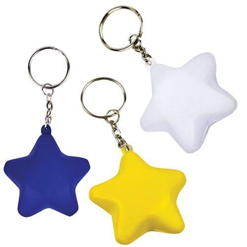 Llavero Antiestrés Star código LLA-12-15 de Artículos Promocionales One Marketing