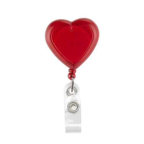 Porta Gafete Corazón código PRO-075 de Artículos Promocionales One Marketing