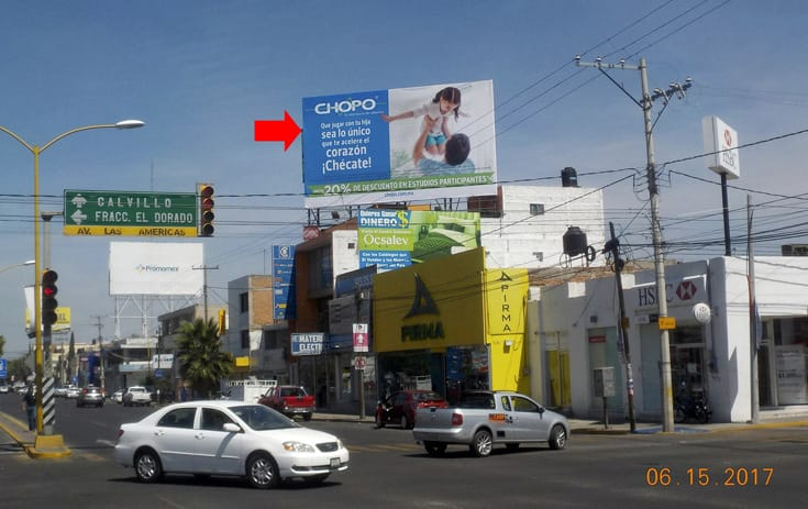 Espectacular AGS004N1 en Av. Aguascalientes #305, Fracc. España, Aguascalientes de One Marketing