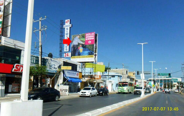 Espectacular CAM008S1 en Av. Central #56 Esq. José A. Torres, San José, Campeche de One Marketing
