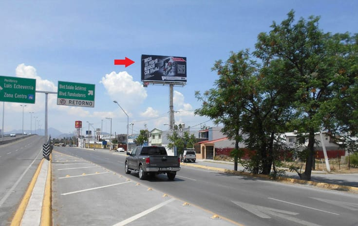 Espectacular COA-154 en Saltillo, Coahuila de One Marketing