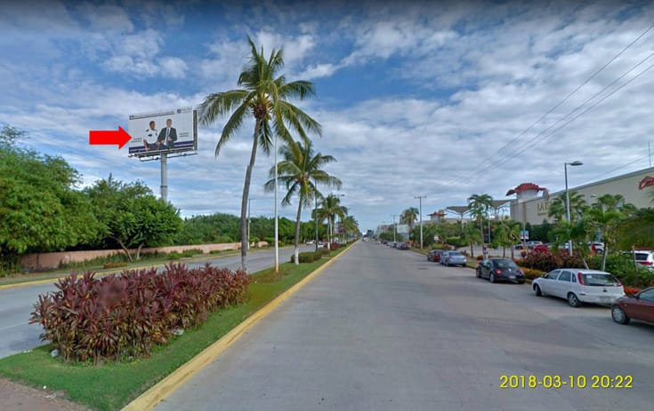 Espectacular GRO005P1 en La Zanja, Acapulco, Guerrero de One Marketing