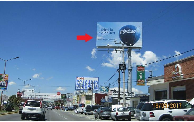 Espectacular HGO007O1 en Pachuca, Hidalgo de One Marketing