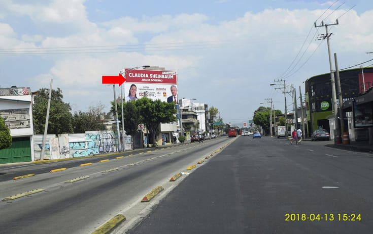 Espectacular MDF024P1 en Río Fuerte #1-A Esq. Av. San Rafael Atlixco Eje 4 Sur, Real del Moral, Iztapalapa de One Marketing