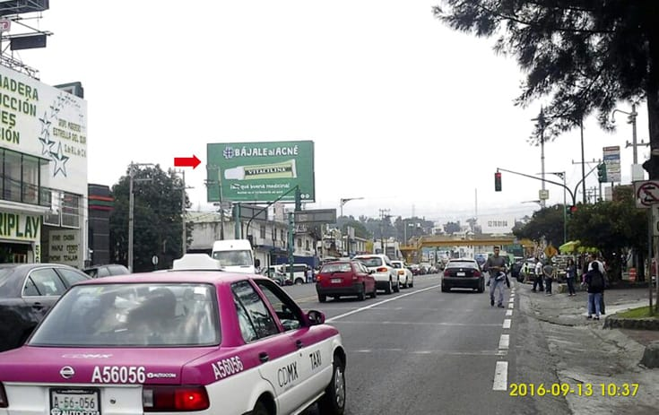 Espectacular CDMX-119 en Col. San Pedro Mártir, Tlalpan de One Marketing