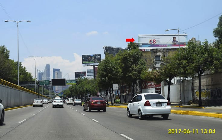 Espectacular CDMX-114 en Col. Tlexpana, Miguel Hidalgo de One Marketing