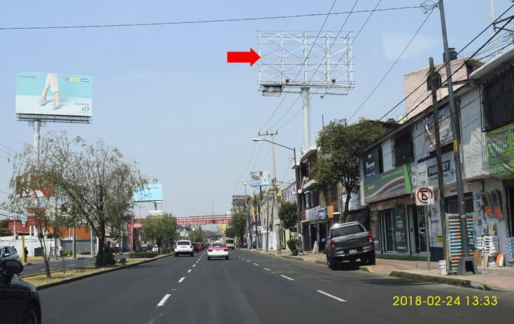 Espectacular CDMX-135 en Prol. División del Norte #5082, Col. La Cebada, Xochimilco de One Marketing