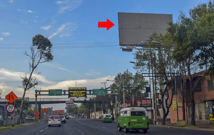 Espectacular MDF185N1 en La Cruz, Iztacalco, Ciudad de México de One Marketing