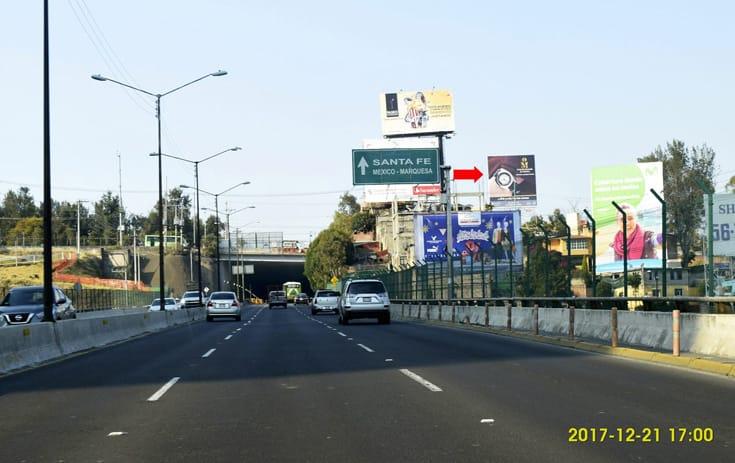 Espectacular MDF336S1 en Av. Tamaulipas #54 Esq. Calz. de Los Poetas, Pueblo Santa Lucía, Álvaro Obregón de One Marketing