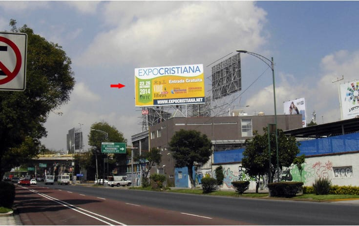 Espectacular CDMX-82 en Col. Residencial Acoxpa, Cuauhtémoc, Ciudad de México de One Marketing