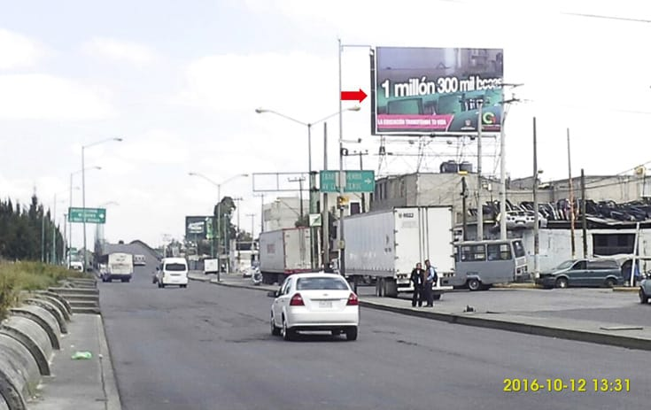 Espectacular MEX027S1 en Estado de México, Nezahualcóyotl, Estado de México de One Marketing