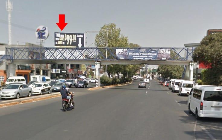 Espectacular MEX052S1 en Naucalpan de Juárez, Estado de México de One Marketing