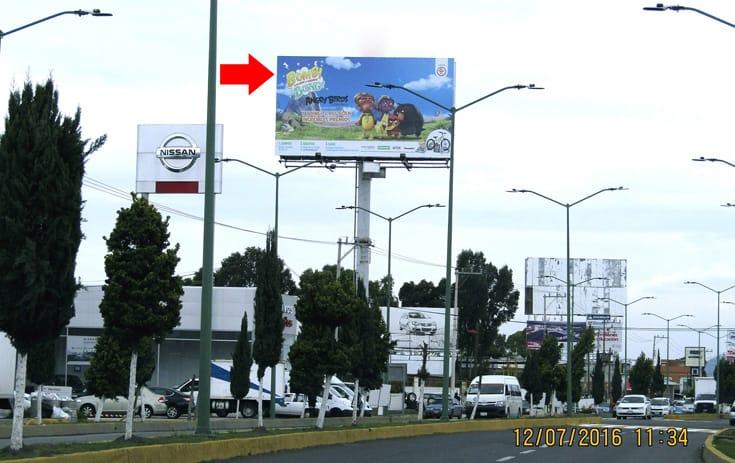 Espectacular MEX102O1 en Granjas Chalco, Chalco de One Marketing