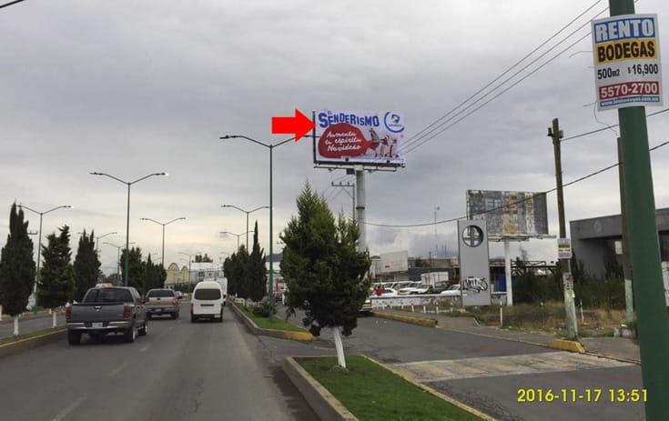 Espectacular MEX102P1 en Granjas Chalco, Chalco de One Marketing