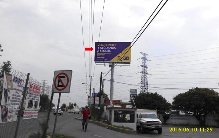 Espectacular MEX110N1 en Ejidos El Vergel, Cuautitlán Izcalli, Estado de México de One Marketing