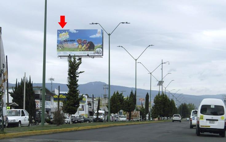 Espectacular MEX120O1 en La Bomba, Chalco, Estado de México de One Marketing