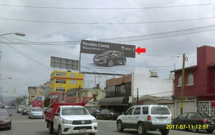 Espectacular MSMEX008S1 en CFE, Toluca, Estado de México de One Marketing