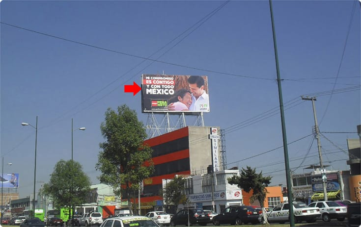 Espectacular MSMEX009O1 en Rincón del Parque, Toluca de One Marketing