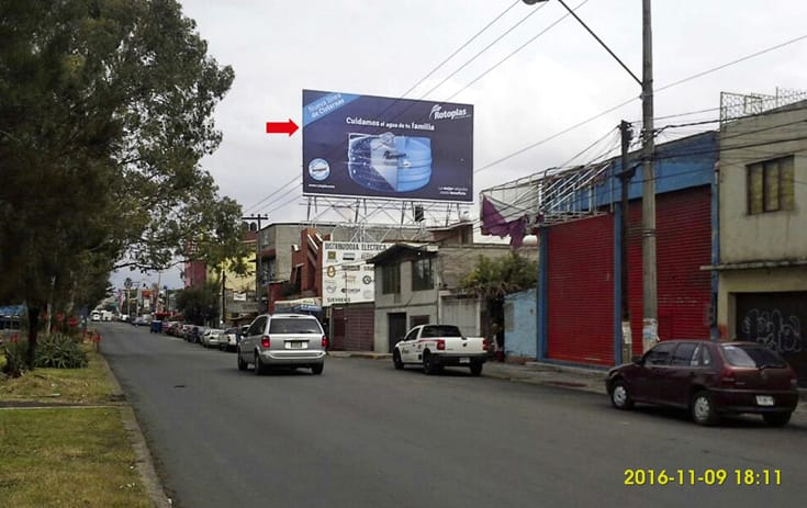 Espectacular MSMEX018S1 en Benito Juárez, Nezahualcóyotl, Estado de México de One Marketing