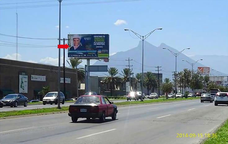 Espectacular NVL079N1 en Carr. Monterrey Miguel Alemán Km. 16.5 Bis, El Milagro, Apodaca de One Marketing