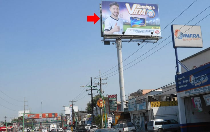 Espectacular NVL090P1 en Av. Lincoln #2520, San Jorge, Monterrey de One Marketing