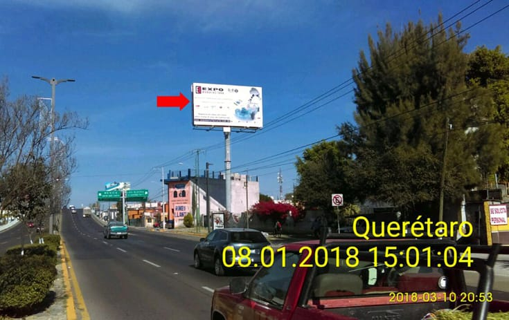 Espectacular QRO035S1 en Av. Constituyentes Km. 5.5, Fracc. Huertas del Carmen, Querétaro de One Marketing