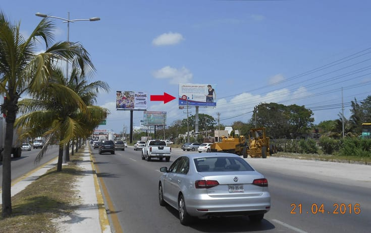 Espectacular QTR020S1 en Blvd. Luis Donaldo Colosio Km. 5.5, Benito Juárez, Cancún de One Marketing