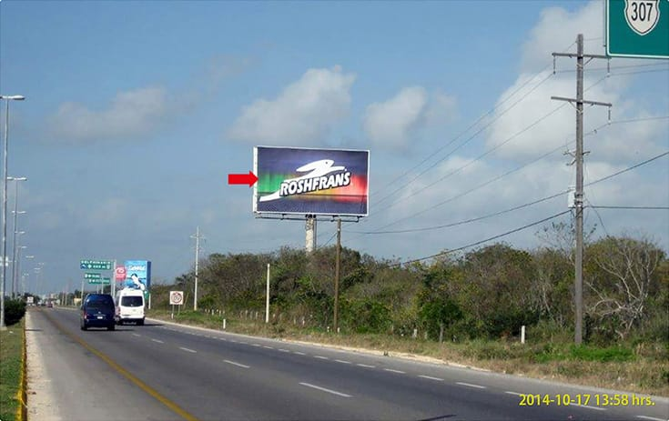 Espectacular QTR-431 en Carr. Fed. #307 Chetumal Cancún km. 272, Col. Benito Juárez, Tulum de One Marketing
