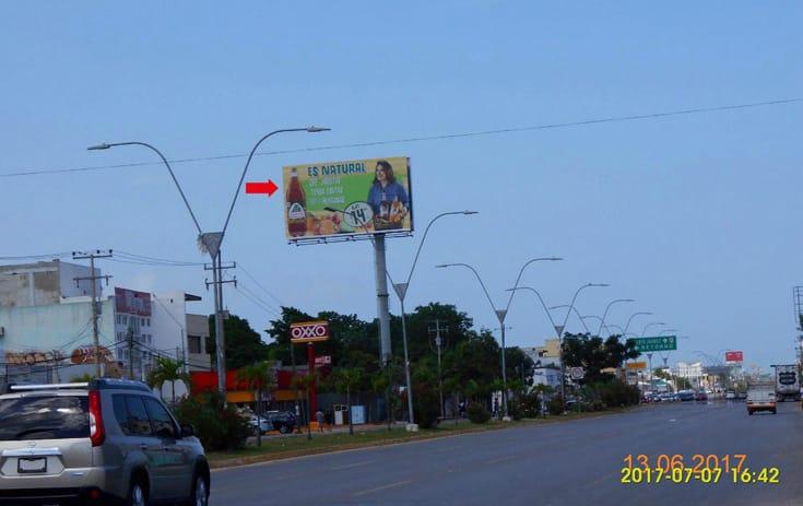 Espectacular QTR036P1 en Av. José López Portillo Mz. 21 Lote 9 Reg. 100, Benito Juárez, Cancún de One Marketing