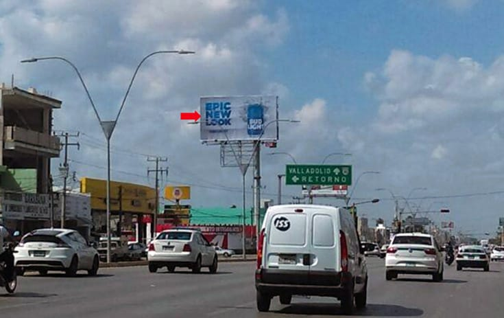 Espectacular QTR037O1 en Av. José López Portillo Sm 58 Mz. 45 Lote 17, Morelos, Cancún de One Marketing