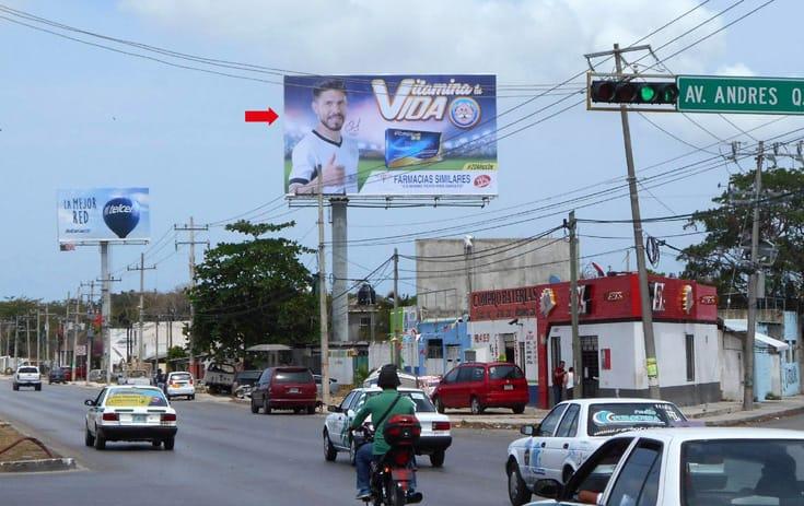 Espectacular QTR057P1 en Benito Juárez, Cancún, Quintana Roo de One Marketing