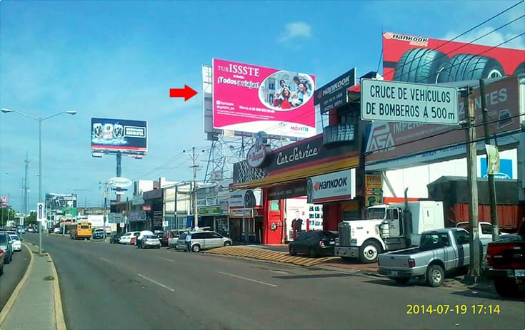 Espectacular SIN003S1 en Culiacán, Sinaloa de One Marketing