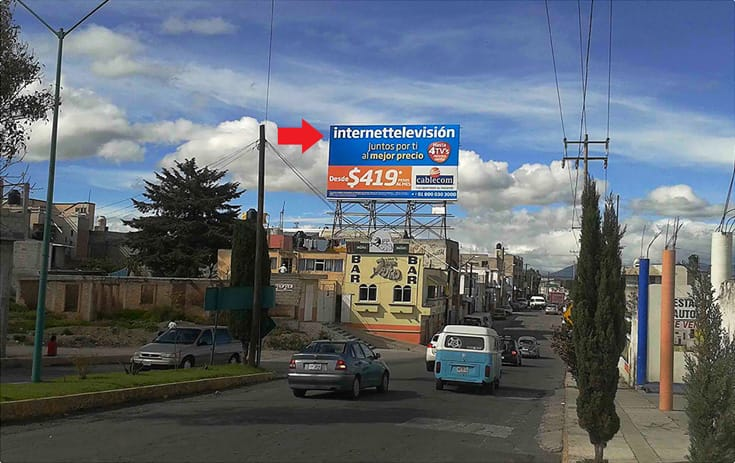 Espectacular TLA005S1 en Av. Juárez Sur #609 Letra E Esq. Calle 18 de Octubre, Centro, Huamantla de One Marketing