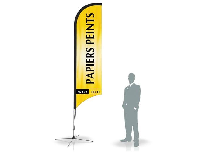 La Bandera Publicitaria o banner bandera de One Marketing, es uno de los displays tipo bandera de mejor calidad del mercado.