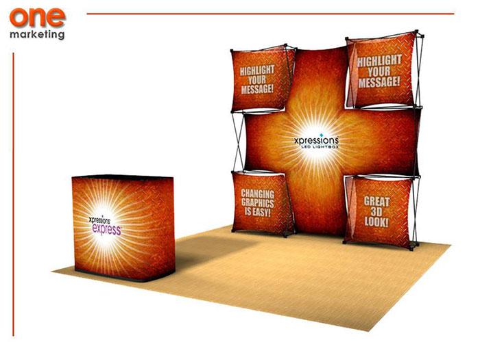 Promociones Expo es uno de los sistemas de exhibición disponibles en One Marketing Expo Stands y Displays