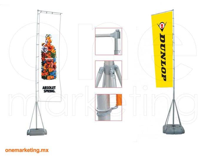 Display tipo Banner Bandera Tanque OM-BD-39 de One Marketing Expo Stands y Displays