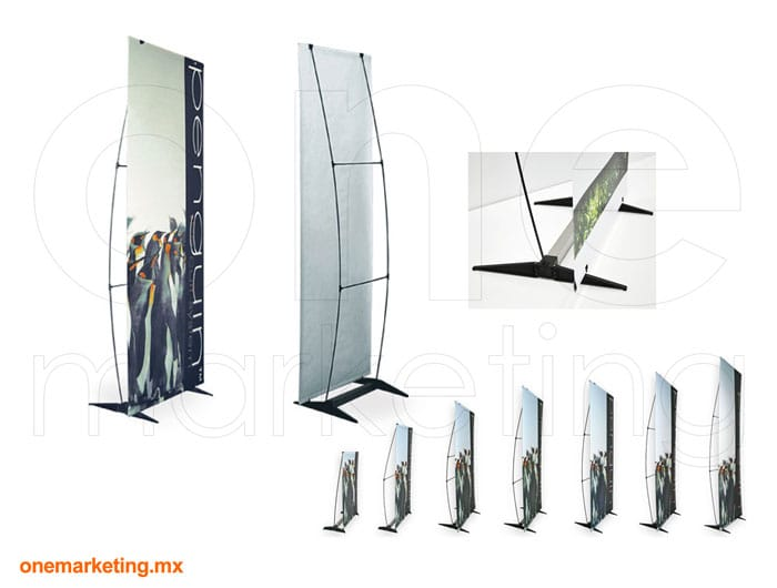 Display tipo Banner Pengüin OM-OB-29 de One Marketing Expo Stands y Displays