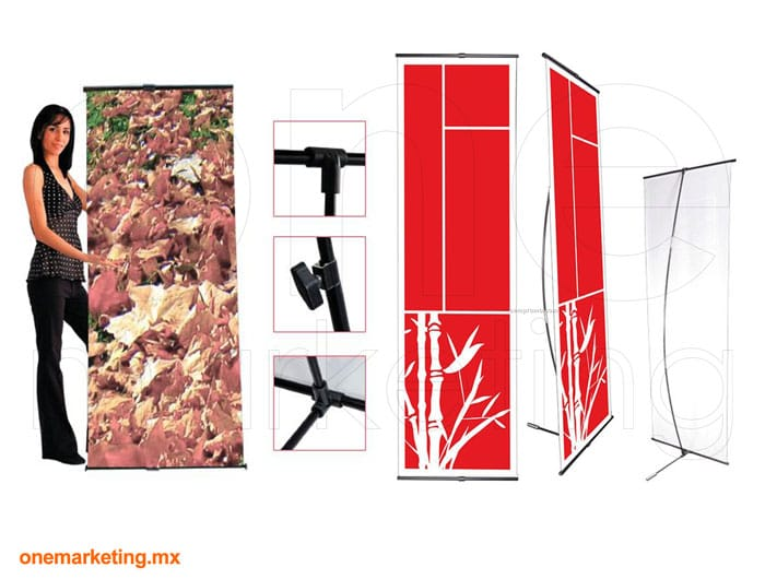 Display tipo Banner STD OM-OB-24 de One Marketing Expo Stands y Displays