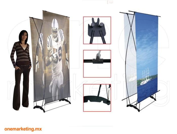 Display tipo Banner Twin OM-OB-26 de One Marketing Expo Stands y Displays