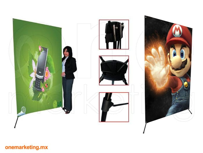 Display tipo Banner X Mega OM-BX-19 de One Marketing Expo Stands y Displays