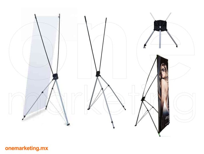 Display tipo Banner X Reforzado OM-BX-13 de One Marketing Expo Stands y Displays