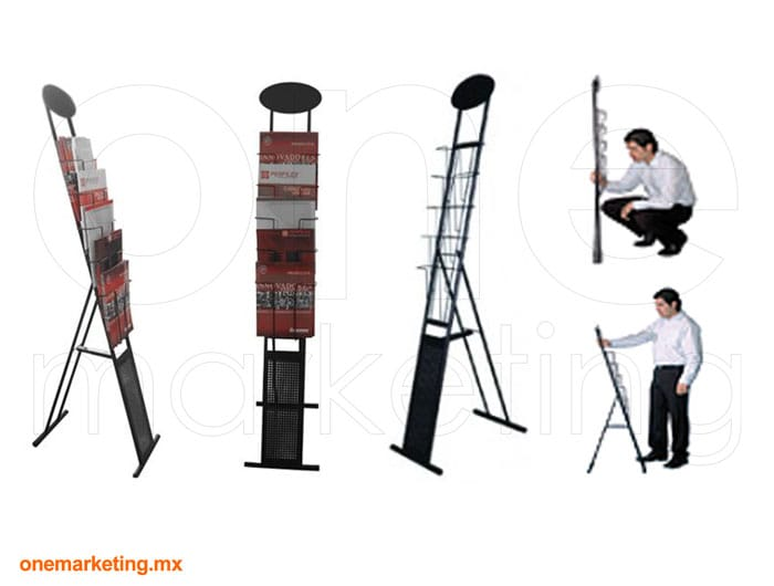 Display tipo Folletero 14 OM-FL-70 de One Marketing Expo Stands y Displays