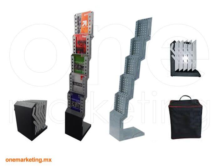 Folletero Plegable de Acero de Acero código OM-FL-68 de One Marketing Stands y Displays