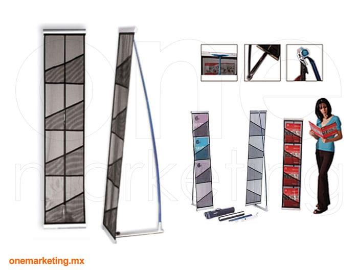 Display tipo Porta Folletero B4 OM-FL-64 de One Marketing Expo Stands y Displays