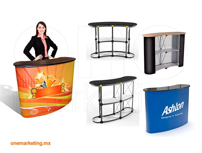 Display tipo Mesa Flex OM-DS-55 de One Marketing Expo Stands y Displays