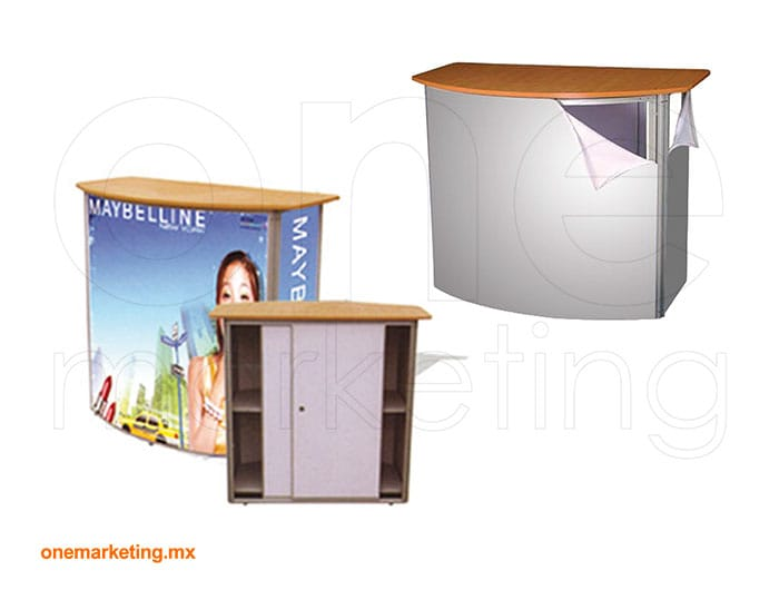 Display tipo Mesa Promocional Deluxe OM-DS-57 de One Marketing Expo Stands y Displays