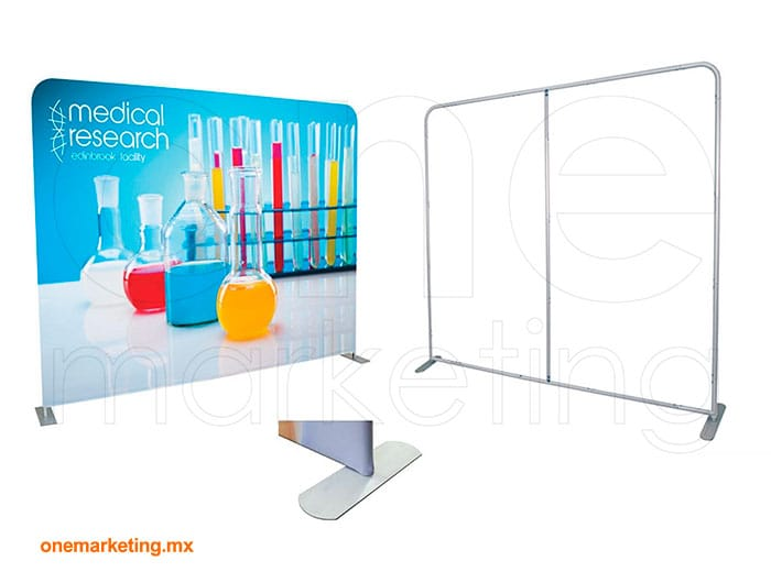 Display tipo Muro Recto Tela OM-DP-79 de One Marketing Expo Stands y Displays