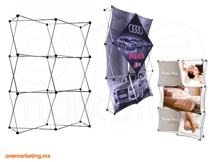 Display tipo Display Araña 2x3 OM-DP-41 de One Marketing Expo Stands y Displays