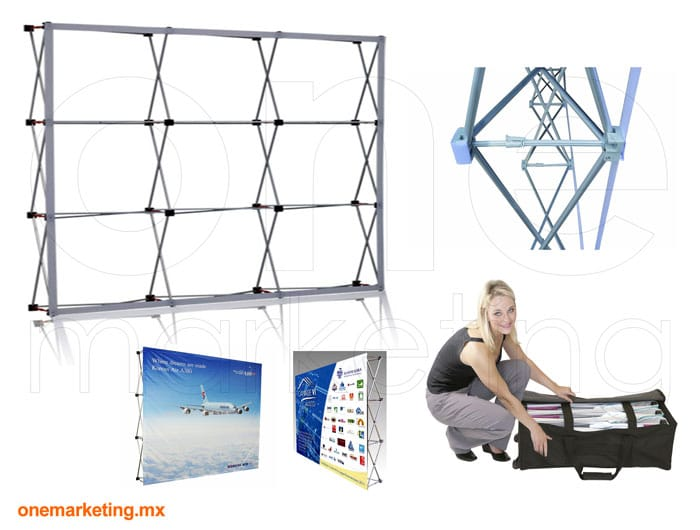 Display tipo Display Araña 3x3 Importada OM-DP-43 de One Marketing Expo Stands y Displays